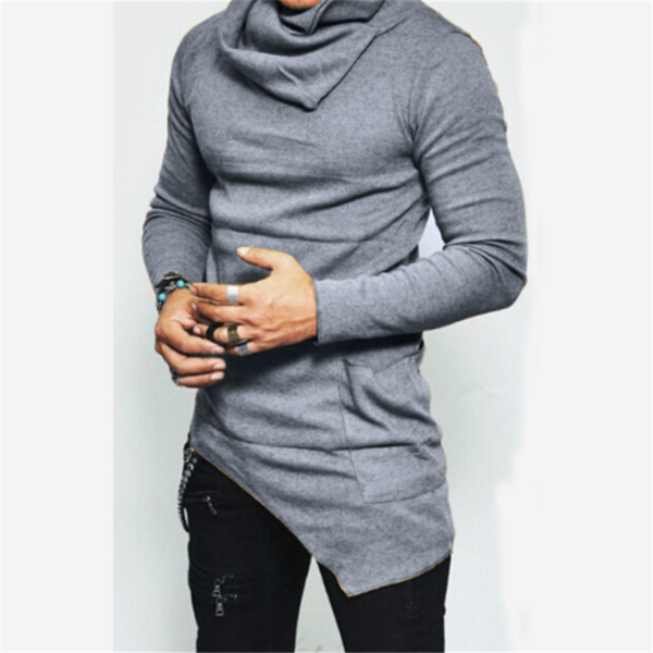 Casual Pile Collar   Long Sleeve Men's Shirt