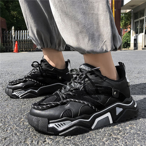 Men's fashion solid color Harajuku style sneakers