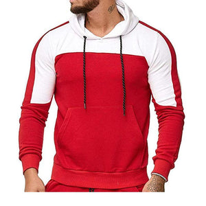 Autumn And Winter Spelling Color Sports Casual Burst Hoodie