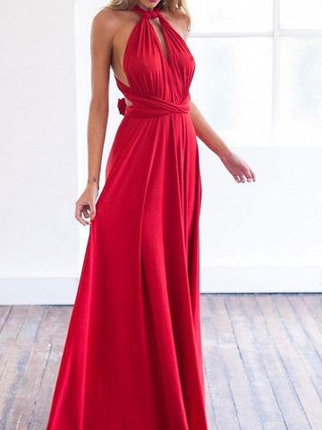 Multi-Way Plain Evening Dresses