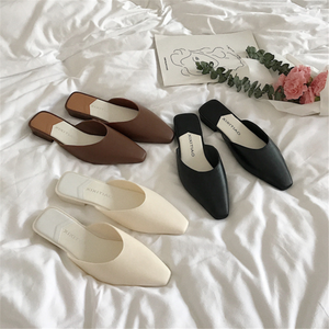 Simple temperament low heel casual slippers