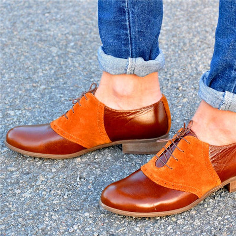 Duotone Stylish Leather Oxford Shoes
