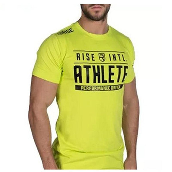 Men's Short Sleeve Cotton T-Shirt Man Slim Print T Shirts Male Joggers Gyms Fitness Bodybuilding Workout  Brand Tees Tops