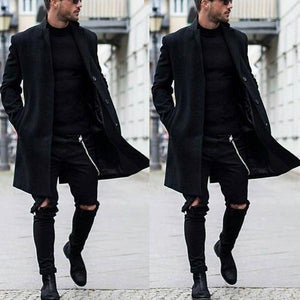 Hairy Solid Color Long Coat