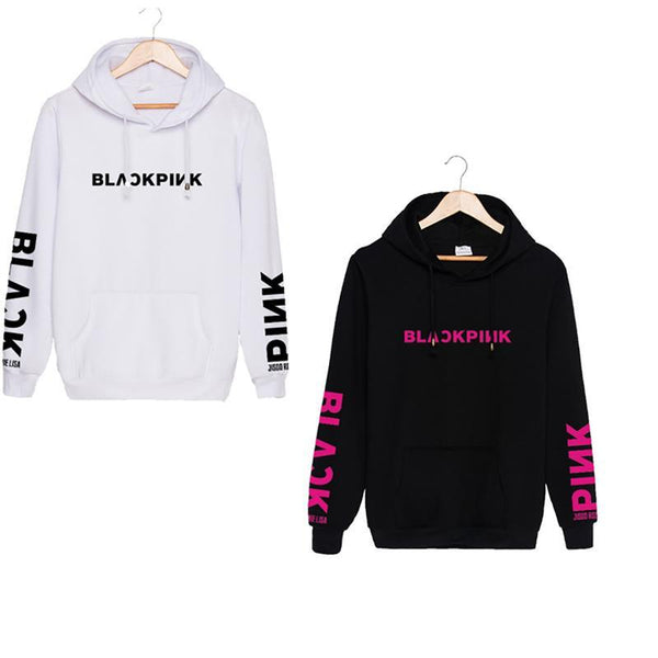 Hooded  Drawstring Patch Pocket  Letters  Batwing Sleeve Hoodies