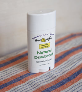 All-Natural Beeswax Deodorant - Rosemary Lemongrass