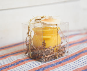 Pure Natural Beeswax Honeypot Candle