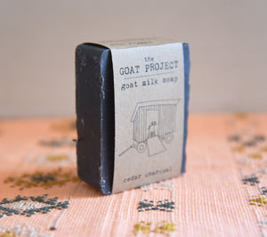 Goat's Milk Farmstead Soap - Cedar Charcoal