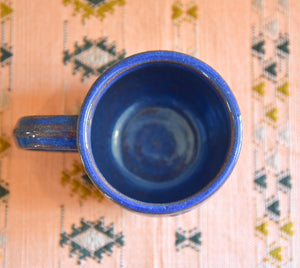 Handcrafted Vermont Ceramic Mug - Blue