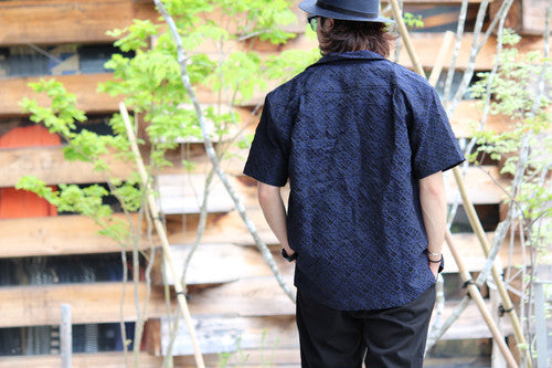 "EX-201S LaGuardia Camp Collar Shirts ""NAVY"""