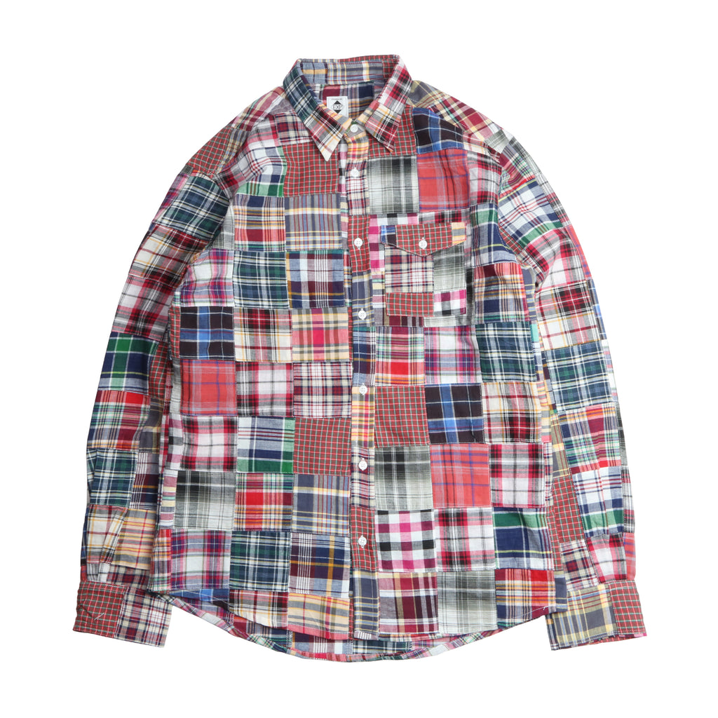 "906SR BUTTON DOWN SHIRTS ""PATCHWORK"""