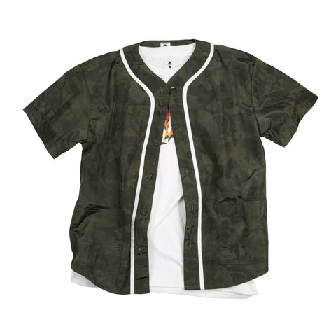 "EX-210S BASEBALL SHIRTS ""OLIVE GREEN"""