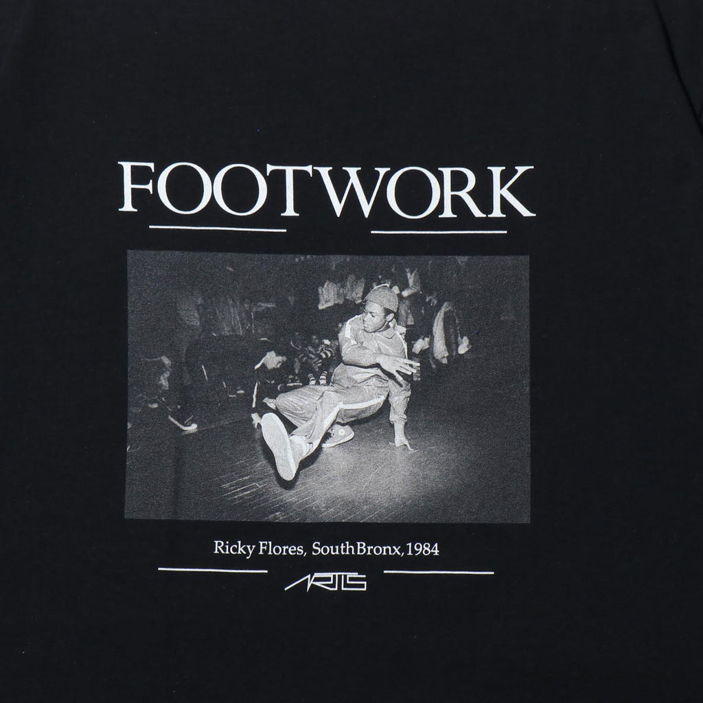 "094T FOOTWORK T-SHIRTS ""BLACK"""