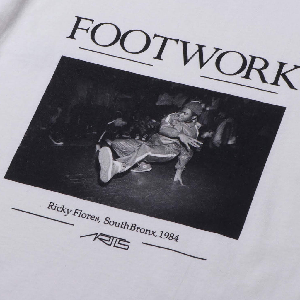 "094T FOOTWORK T-SHIRTS ""WHITE"""