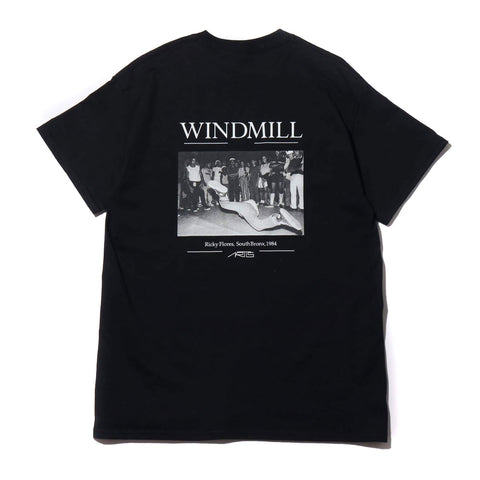 "095T WINDMILL T-SHIRTS ""BLACK"""