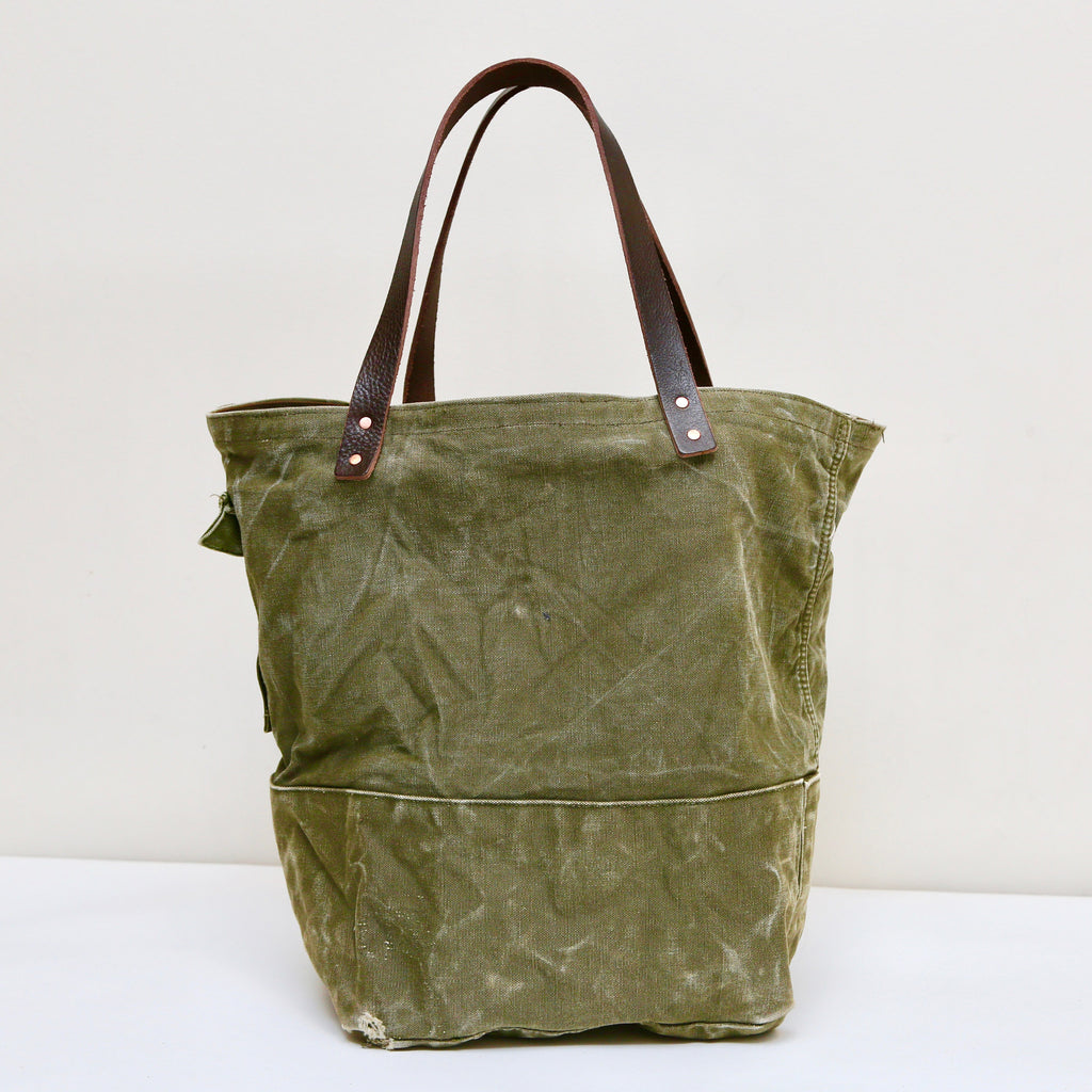 "0801 EXP Reborn series ""Vintage remake military canvas tote bag"""