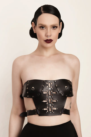 Dark Goddess Leather Bustier