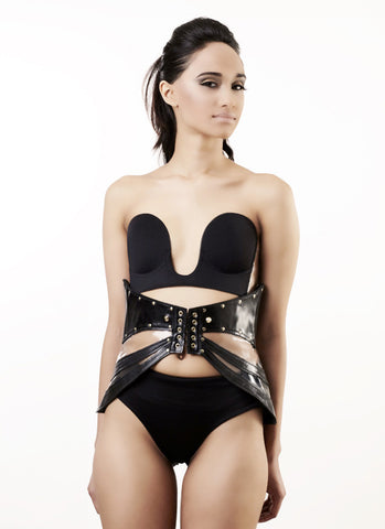 The Fly Away Corset / Belt- Leather & Clear PVC