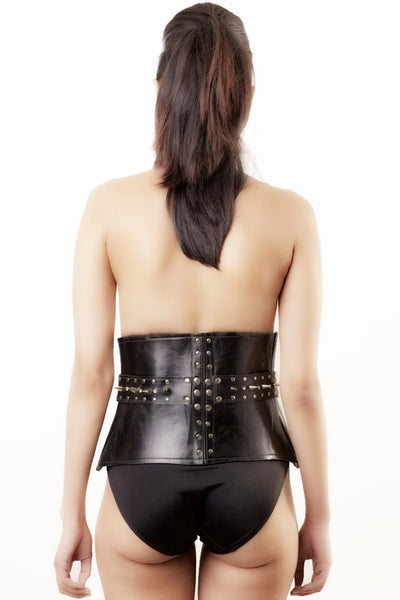 Peplum Studded Leather Belt