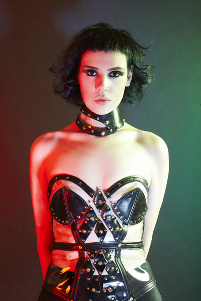 PVC & Leather Bustier