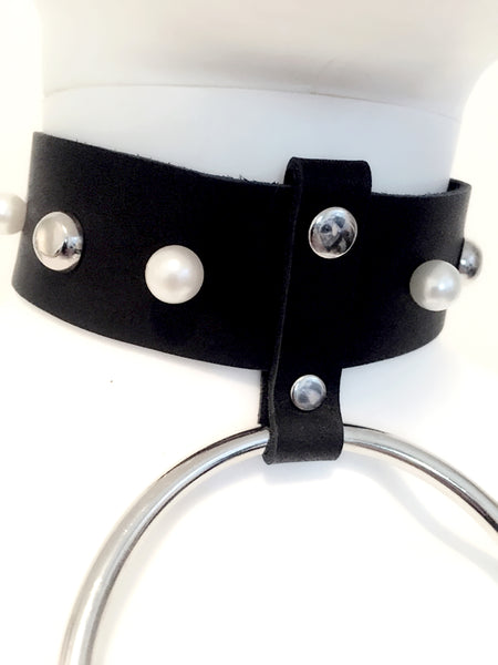 Oversized O-ring Leather Choker