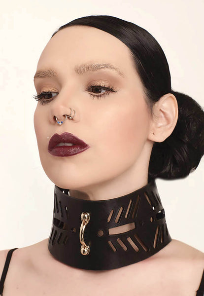 leather collar, leather women choker, leather women collar