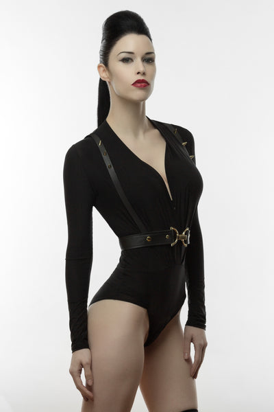 Bold Leather Harness Belt, fetish leather harness belt