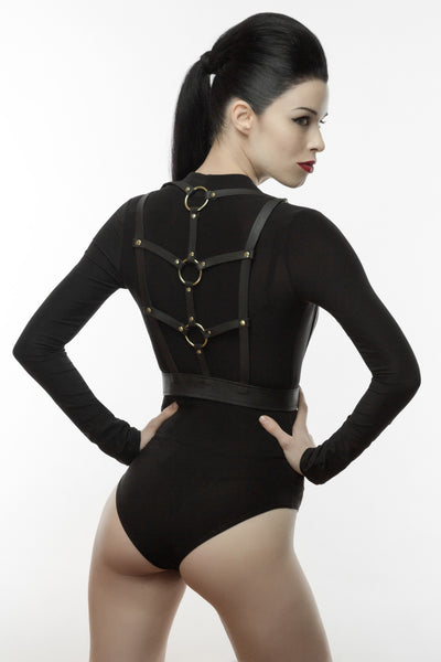Bold Leather Harness Belt
