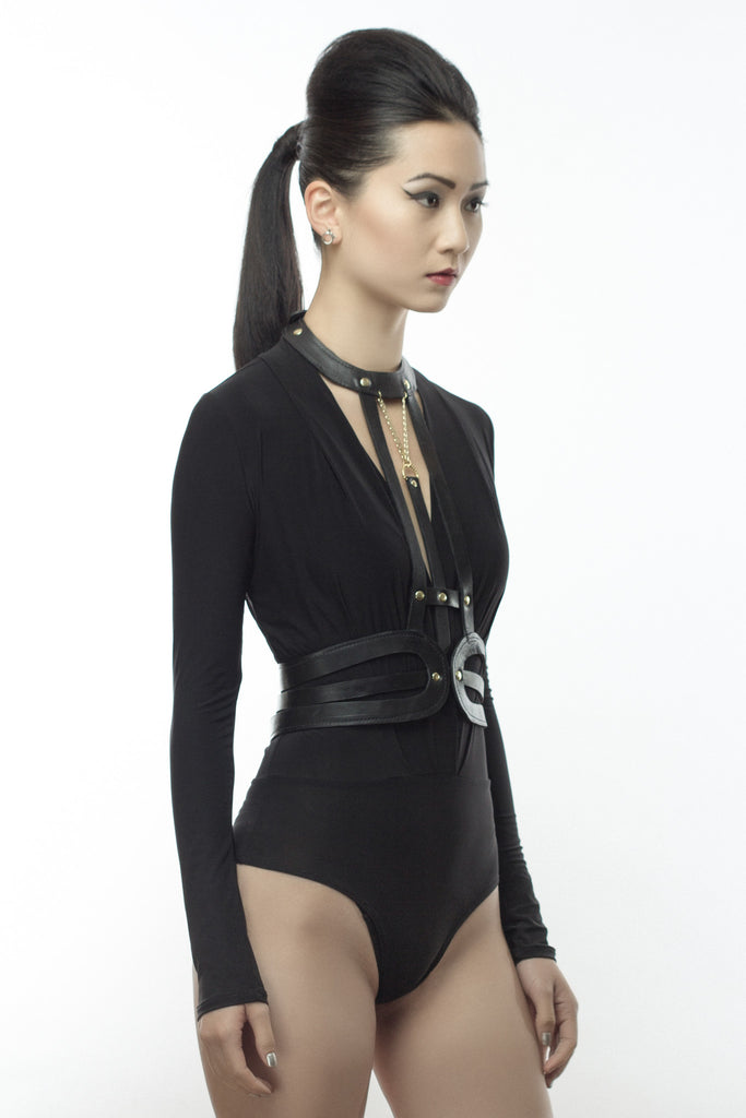 Leather Fashion Body Harness – Tempest And Serenity 9e188bb1f08