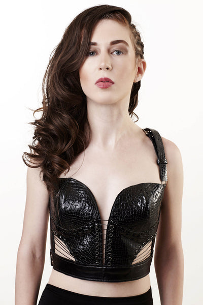 Leather Bustier