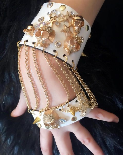 Glam Rock Leather Cuff