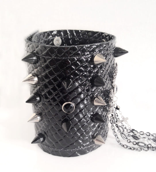 Leather Spike Cuff Bracelet