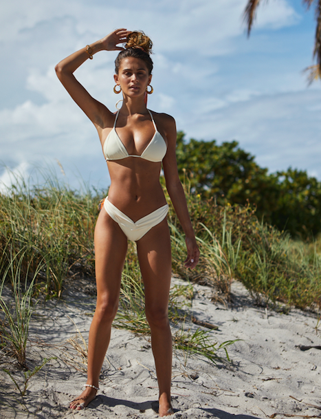 Kai Lani Resort 21 Ribbed Ivory Cinch Bikini