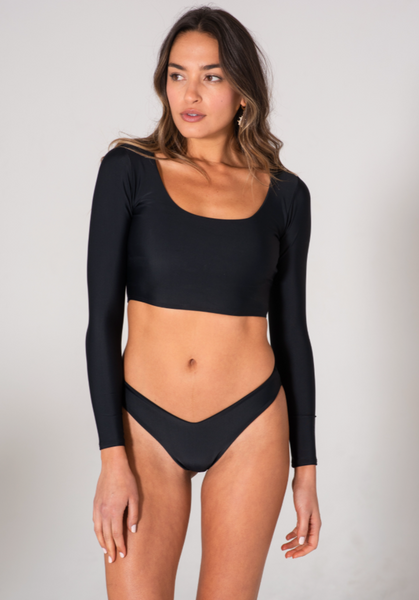 Kai Lani Resort 20 Black Nancy Crop Top