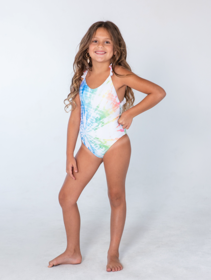 Kai Lani Mini Resort 20 Tie Dye Scrunchie One Piece