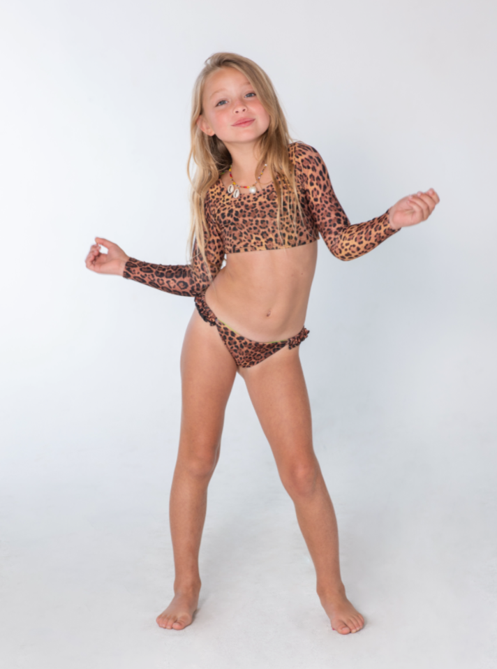 Kai Lani Mini Resort 20 Animal Nancy Crop Bikini Set