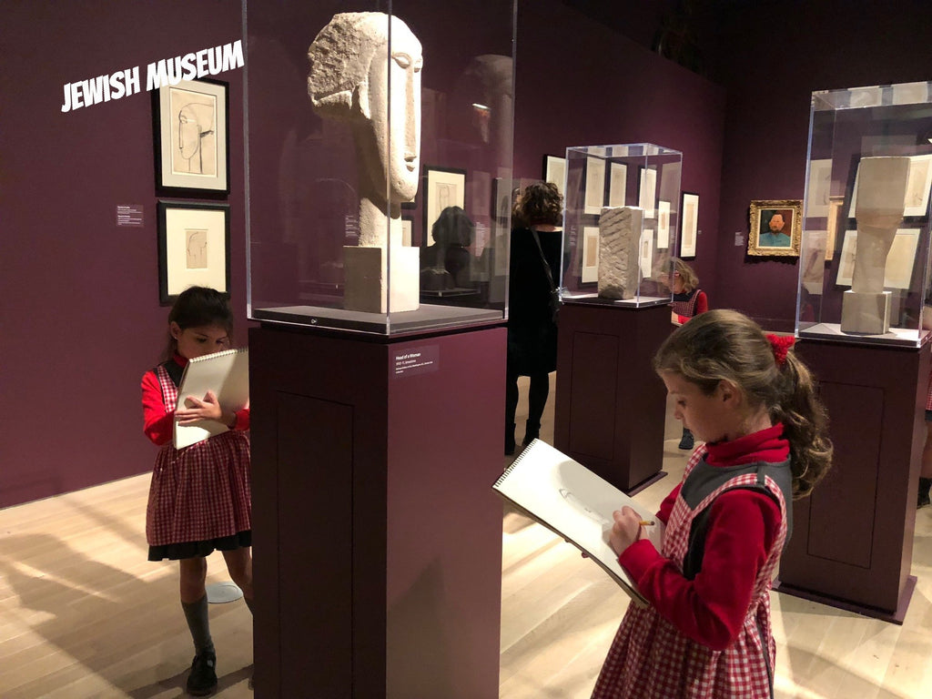 Drawing from observation, study of sculpture, private museum classes for kids,