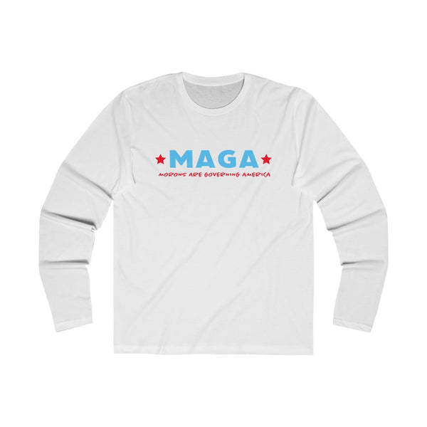Anti-Trump. MAGA Morons are governing America. Men's Long Sleeve Crew Tee, Long-sleeve, Printify, Triumph Design