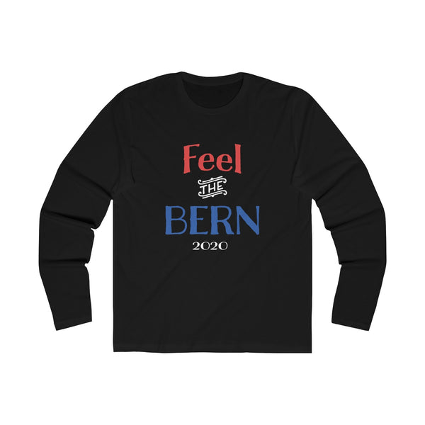 Feel the Bern Long Sleeve Crew Tee, Long-sleeve, Triumph Design, Triumph Design