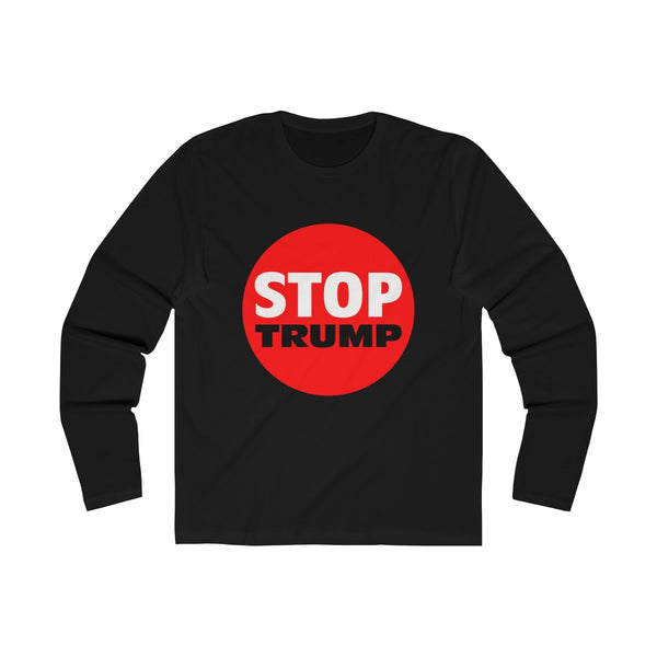 Stop Trump. Men's Long Sleeve Crew Tee, Long-sleeve, Triumph Design, Triumph Design