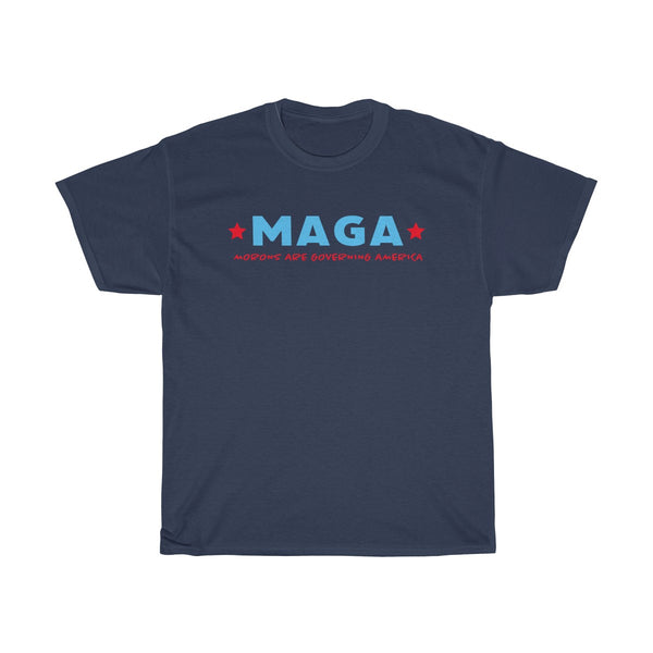 Anti-Trump. MAGA morons are governing America. Unisex Heavy Cotton Tee, T-Shirt, Printify, Triumph Design