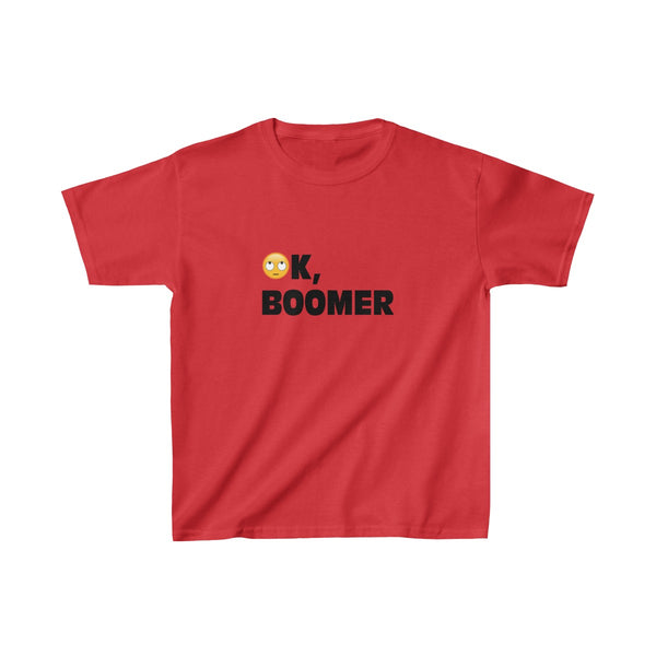 Ok, boomer. Eye roll emoji. Kids Heavy Cotton™ Tee, Kids clothes, Triumph Design, Triumph Design