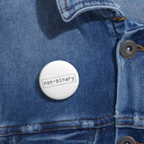 non-binary LGBT+ Pin Buttons, Accessories, Triumph Design, Triumph Design