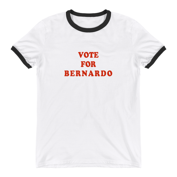 VOTE FOR BERNARDO Ringer T-Shirt Bernie 2020!, T-Shirt, Triumph Design, Triumph Design