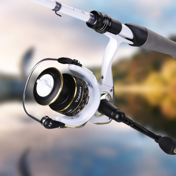 Spinning Fishing Reel 2000 and 2 Pcs Rod Combo (US Only)