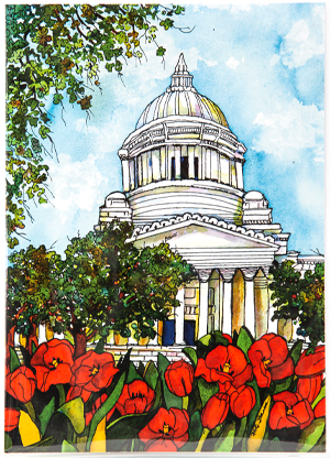 Capitol in Red
