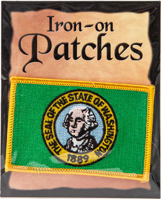 Washington Flag Iron-On Patch