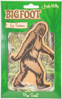 "5"" tall Bigfoot car Freshener, string for hanging included."