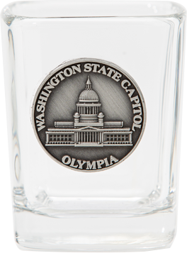 Square Shot Glass w/ Medallion