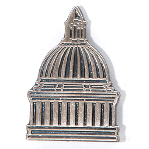 Silver Dome Lapel Pin